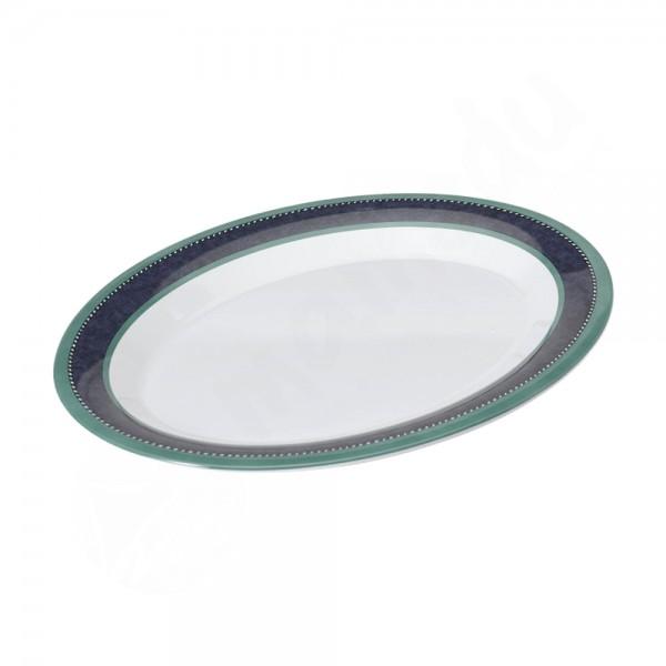 Gimex Servierplatte oval - Marble Blue
