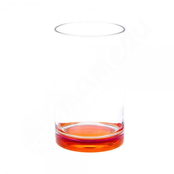 Gimex Trinkglas mit farbigem Boden - Orange - SAN