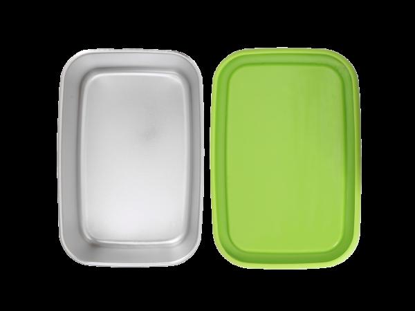 0,65 l Edelstahl pocketBOX mit Silikondeckel in Grün