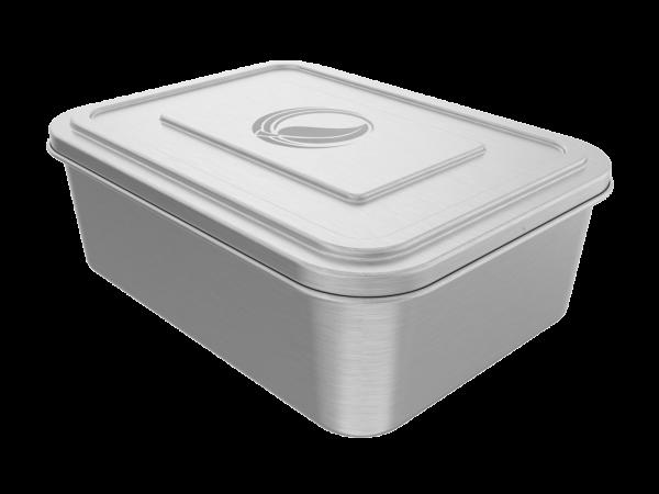 2,0 l Edelstahl lunchBOX Dose mit Deckel und Dichtung
