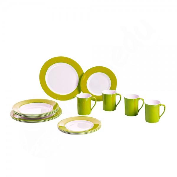Gimex Geschirrset 16tlg Lime Green Promo Line