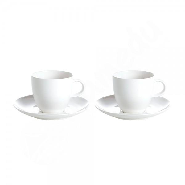 Gimex 2x Tasse+Untertasse - Edelweiss