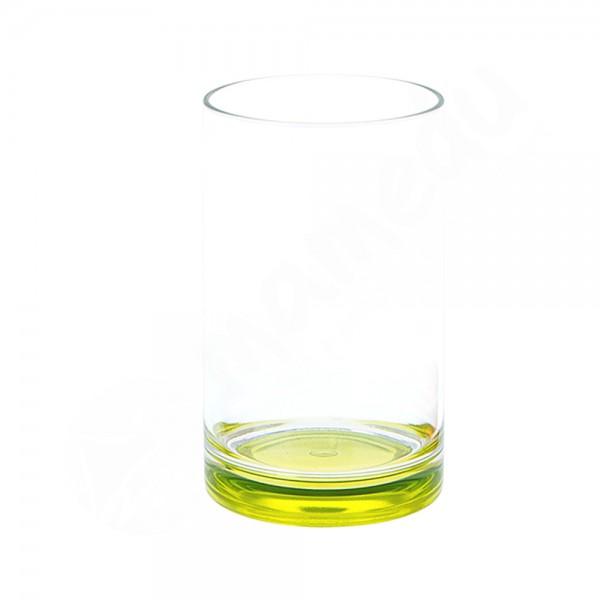 Gimex Trinkglas mit farbigem Boden - Lime - SAN