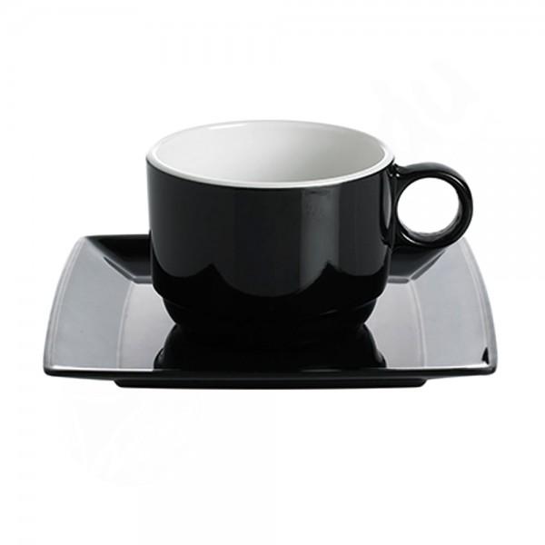 Gimex Set Tassen+Untertassen - Quadrato B&W
