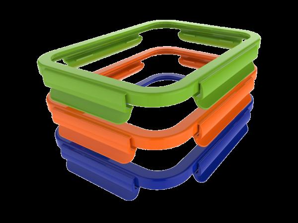 Verschlussrahmen in Grün für die ECOtanka lunchBOX