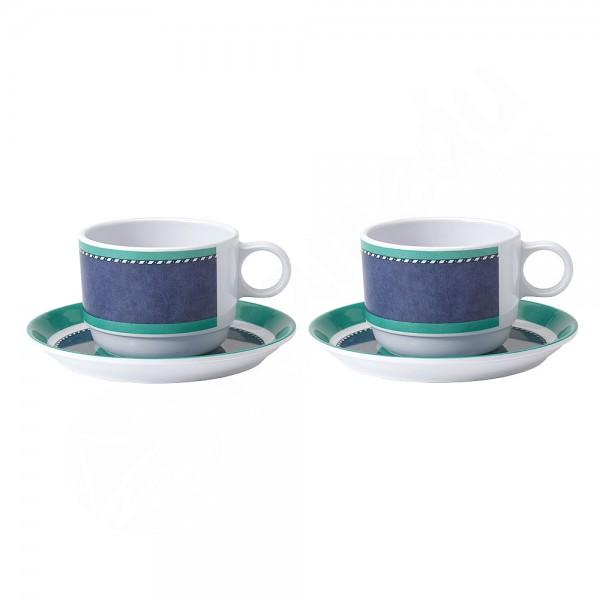 Gimex 2x Tasse+Untertasse - Marble Blue
