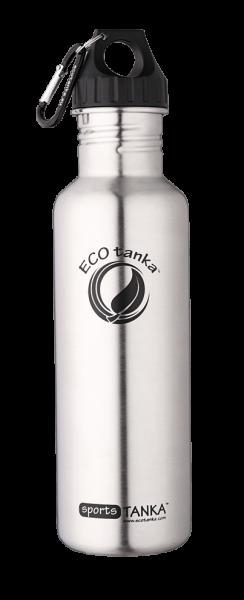 ECOtanka 0,8l sportsTANKA™ in Edelstahl mit Poly-Loop-Verschluss